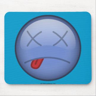 Dead Smiley blue Mouse Pads