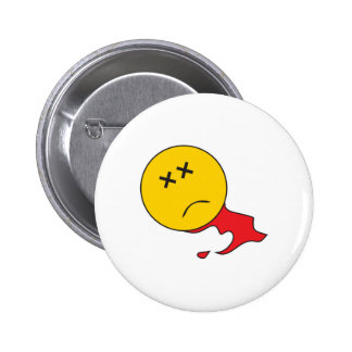 Dead Smiley Face 2 Inch Round Button
