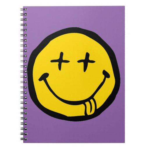 dead smiley spiral notebook