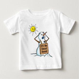 dead snowman infant t-shirt