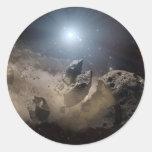 Dead Star Round Sticker