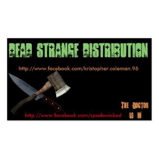 DEAD StRANGE distribution business cards 100 Pack