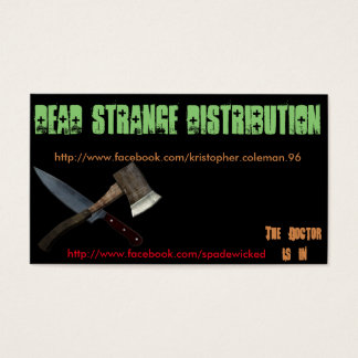 DEAD StRANGE distribution business cards 100 Pack