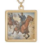 Dead Sure: a U.S. Cavalry trooper in the 1870s (co Square Pendant Necklace