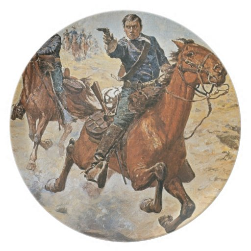 Dead Sure: a U.S. Cavalry trooper in the 1870s (co Dinner Plates