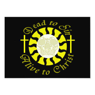 Dead to Sin - Alive to Christ 5x7 Paper Invitation Card