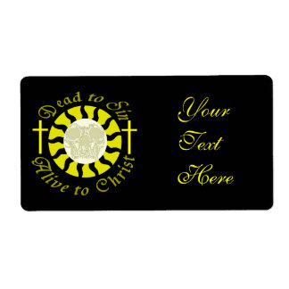 Dead to Sin - Alive to Christ Personalized Shipping Label