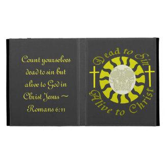 Dead to Sin - Alive to Christ: Romans 6:11 iPad Folio Cover