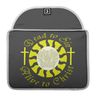 Dead to Sin - Alive to Christ: Romans 6:11 MacBook Pro Sleeves