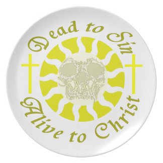 Dead to Sin - Alive to Christ: Romans 6:11 Party Plates