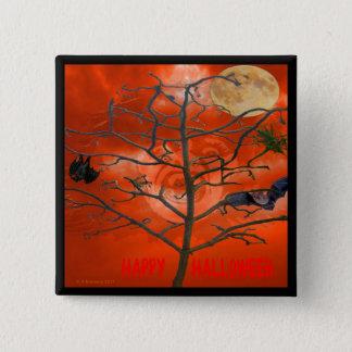 Dead Tree amongst an Orange Scary Sky Button