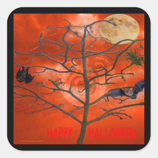 Dead Tree amongst an Orange Scary Sky Sticker