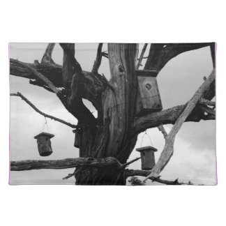 Dead Tree and Birdhouses Placemats