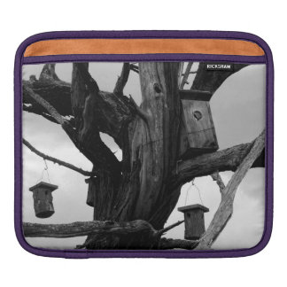Dead Tree and Birdhouses Sleeve For iPads