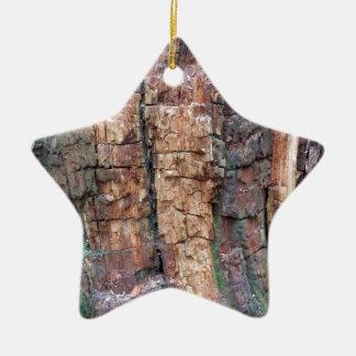 Dead tree bark ceramic ornament