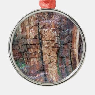 Dead tree bark metal ornament