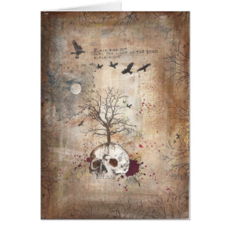 Dead tree dark art card