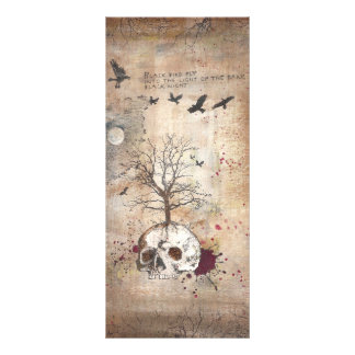 Dead tree dark art customized rack card