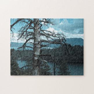 Dead Tree In Lake Tahoe Jigsaw Puzzle