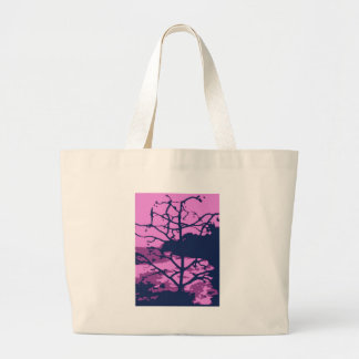 Dead Tree of Hawaii Gone Purple Large Tote Bag