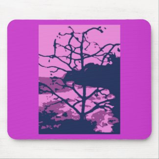Dead Tree of Hawaii Gone Purple Mouse Pad