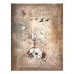 Dead tree on skull dark art Flyer