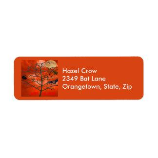 Dead Tree Orange Scary Sky Address Labels