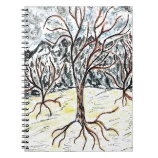 Dead Tree Sketch Spiral Notebook