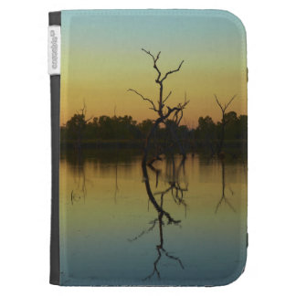 Dead trees reflected in Lily Creek Lagoon dawn Case For The Kindle