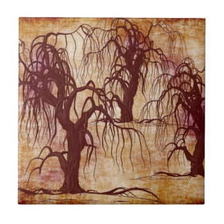 DEAD TREES SMALL SQUARE TILE