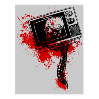 DEAD TV SET POSTCARD