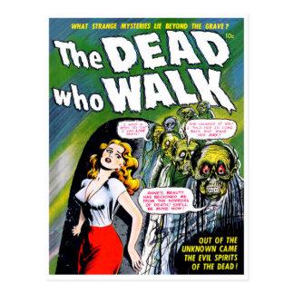 Dead Who Walk - Vintage Zombie Horror Postcard