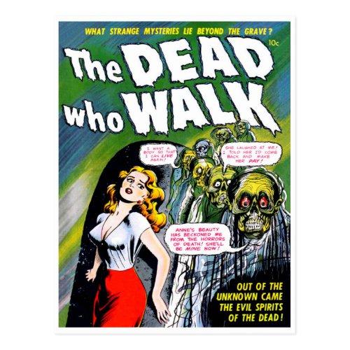 Dead Who Walk _ Vintage Zombie Horror Postcard