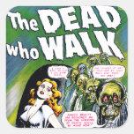 Dead Who Walk - Vintage Zombie Horror Stickers