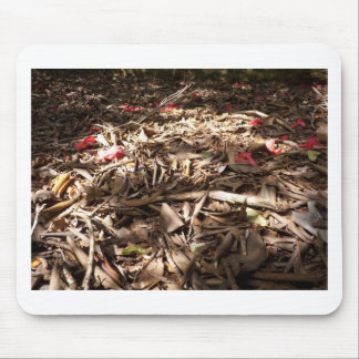Dead wood and leaves on the forest floor mousemat
