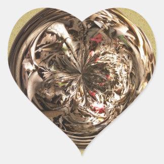 Dead Wood Sphere Heart Sticker