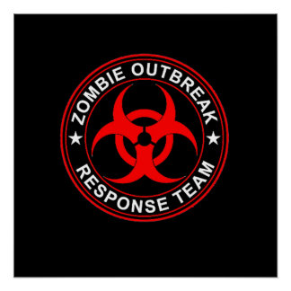 Dead Zombie Outbreak Response Team Walking Poster