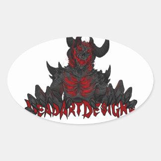 DeadArtDesigns Pegatina Óval Personalizadas