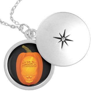 Deadful Haloween Round Locket Necklace