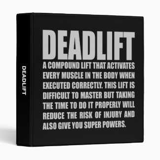 Deadlift - Funny Workout Motivational Binder