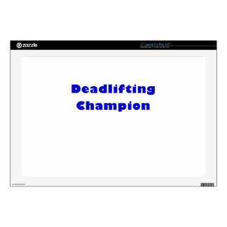 """Deadlifting Champion Decals For 17"""" Laptops"""