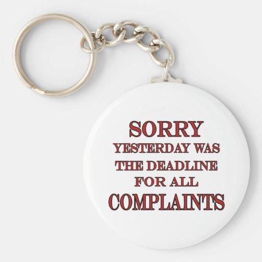 Deadline For Complaints Key Chain