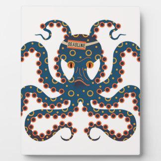 Deadline octopus plaque