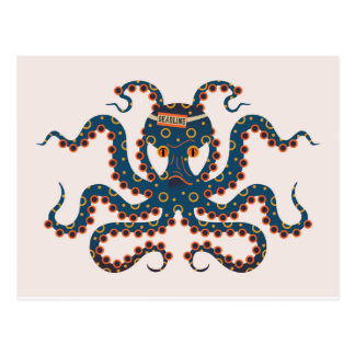 Deadline octopus postcard