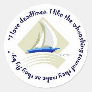 Deadlines Classic Round Sticker