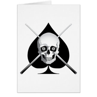 Deadly Billiards Ace Greeting Card