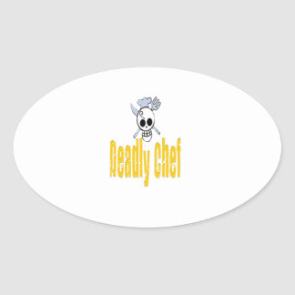 Deadly Chef Oval Stickers