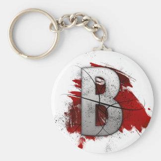 Deadly Design Monogram Letter B Key Chain