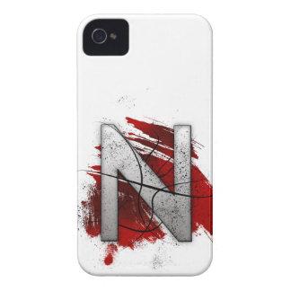 Deadly Design Monogram Letter N iPhone 4 Case