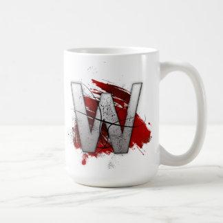 Deadly Design Monogram Letter W Coffee Mug